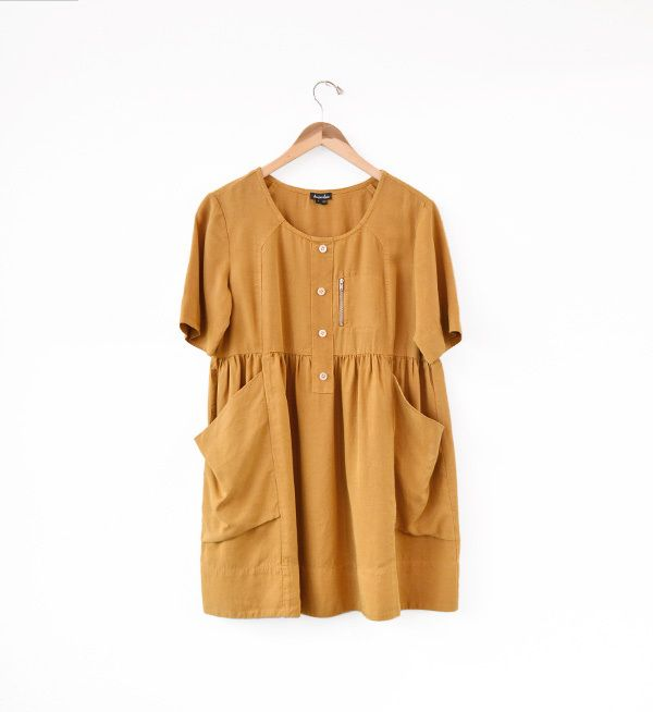 mustard hayley dress / steven alan.
