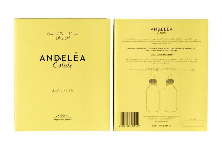 Premium packaging of Andelea Estate's Extra Virgin Olive Oil #BeyondEVOO