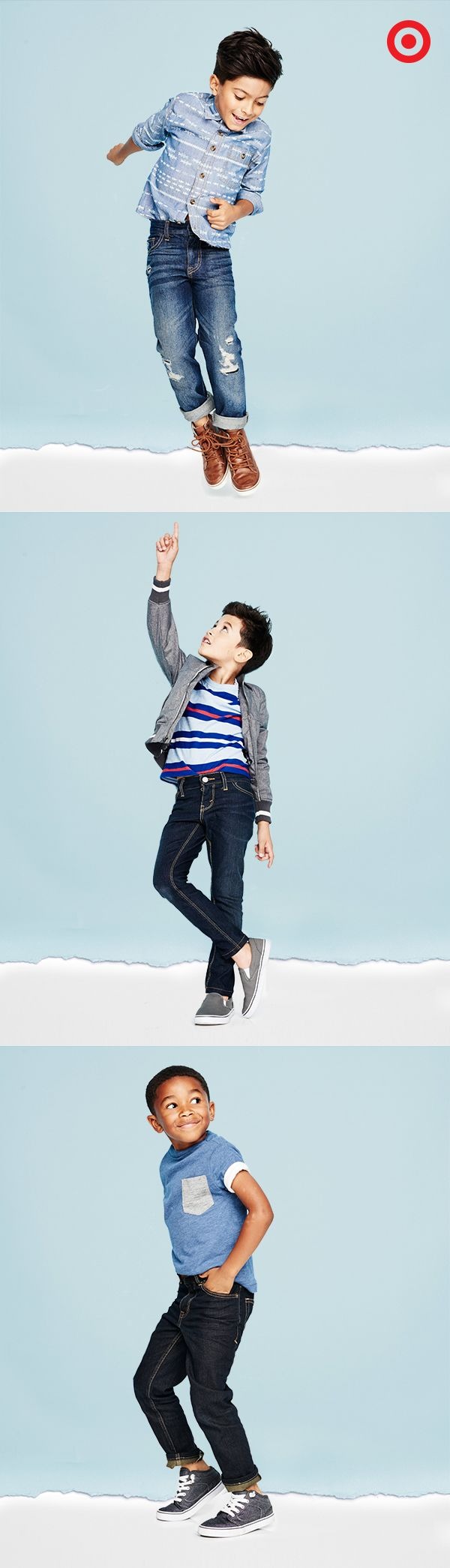 Boys will be boys and these jeans are made for their every move. They stretch! Bring in the recess and gym class and dashing through the halls. This denim, he'll love to put on – shirts, pants, jackets and more.