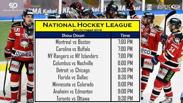 NHL - National Hockey League | Schedule for Today 04 ...