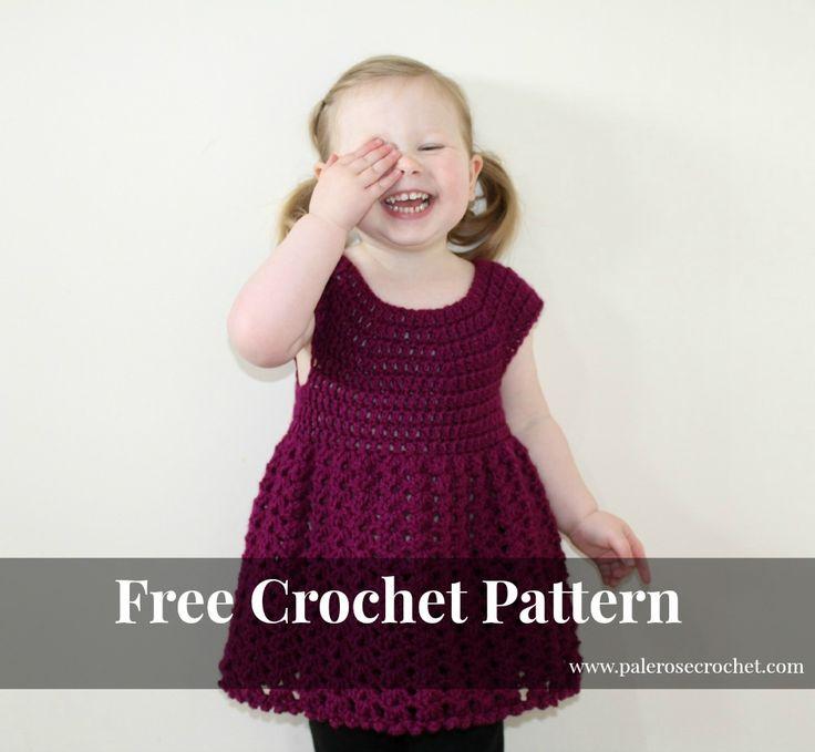 Pale Rose Crochet: Crochet Toddler Shell Dress Pattern