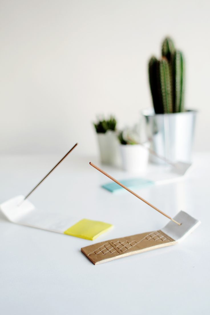 Fall For DIY Incense Holder with air dry clay - cute!