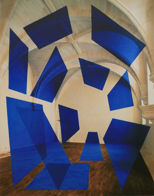 Saint Savin, 1998, by Georges Rousse