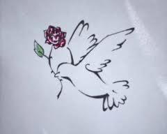 Duif met een roos zou ik wel als tattoo willen.