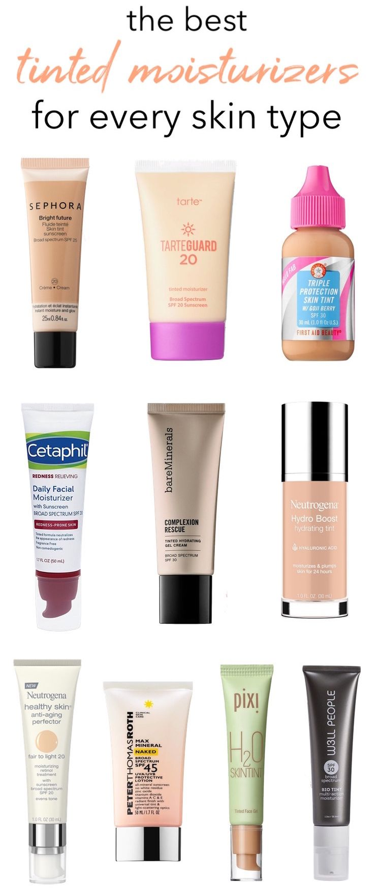 The Best Tinted Moisturizers With SPF: Drugstore to High-End