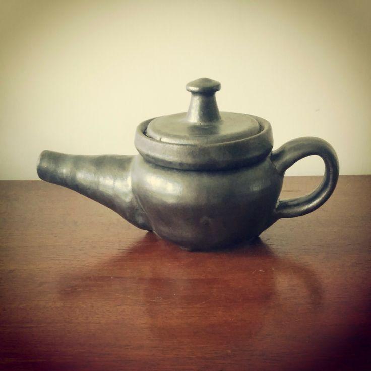 Stoneware wheel thrown ceramic teapot - Lewis Ryan