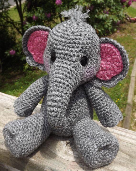 Elefante Amigurumi Crochet patrón PDF muñeca por LisaJestesDesigns