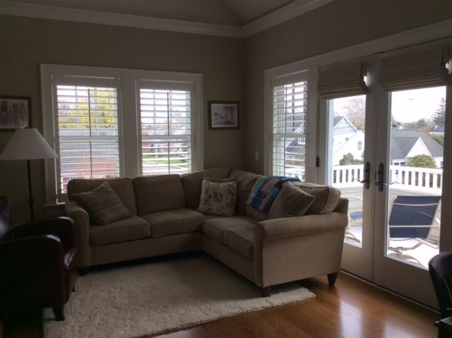 Asap Blinds On The French Doors Woven Roman Shades