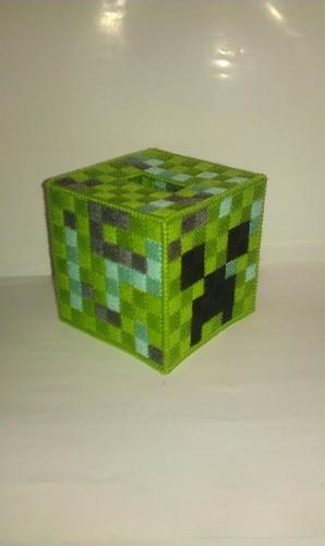 Handmade Minecraft Creeper Block Tissue Box Cover Plastic Canvas | eBay