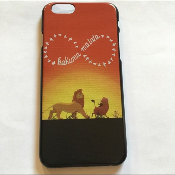 $5 Add on Item! iPhone 6 Lion King Case NWT! The lines in the photo are actually on the case. I don't know why it's like that but it was like that when it came in the mail. Reasonable offers only  Accessories Phone Cases