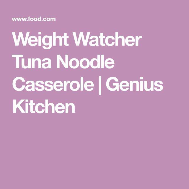 Weight Watcher Tuna Noodle Casserole   Genius Kitchen