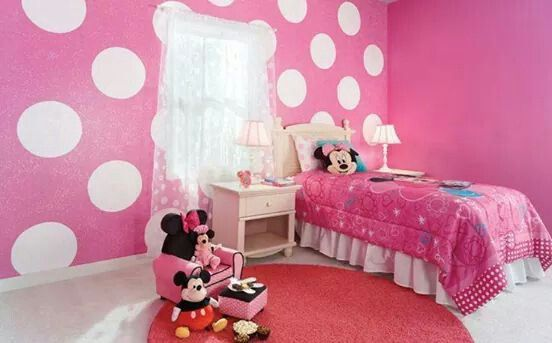 Purple with pink polka dots ? For a doc room