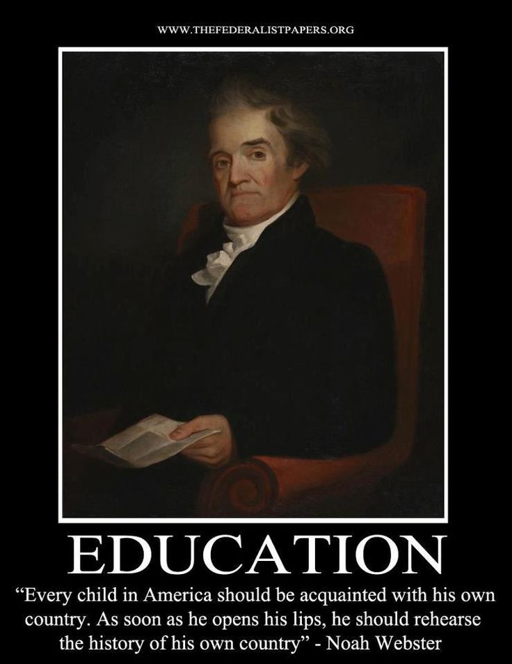 noah webster essays on education Noah webster, essays on female education, and higher education with those of noah webster how did americans envision independence and nationhood in.