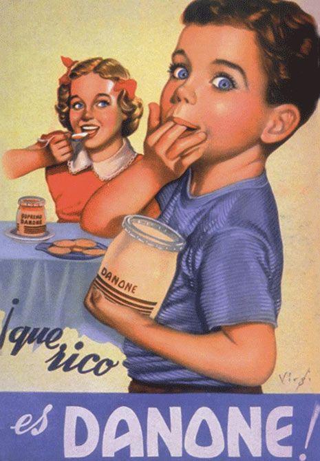 anuncio vintage de Danone http://www.marketingdirecto.com/actualidad/publicidad/un-viaje-por-la-publicidad-del-ultimo-siglo-en-106-imagenes/