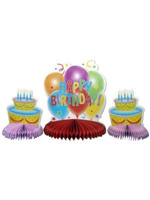 Happy Birthday Masa Orta Süsü (3 adet)