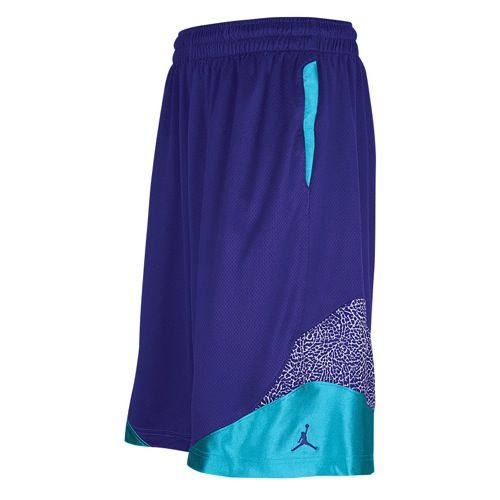 Jordan Son Of Mars Elephant Short - Mens - Basketball - Clothing - Grape Ice/New Emerald/Grape Ice