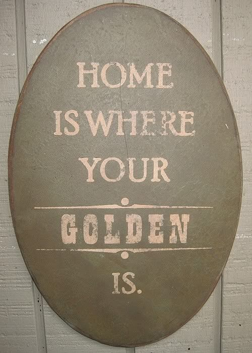 Home is Where Your Golden Is or Goldens Are