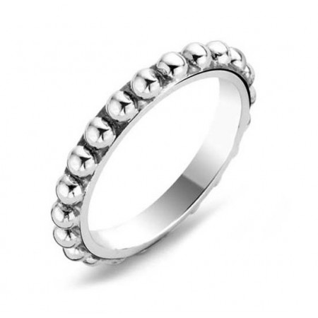 Ti Sento Silver Bobble Stacking Ring