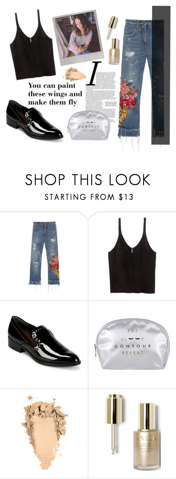 """""""Troian Bellisario"""" by spencer-hastings-5 ❤ liked on Polyvore featuring Dolce&Gabbana, H&M, Donald J Pliner, Polaroid and Stila"""