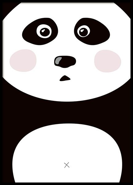 Cute poster for the kids room, panda.