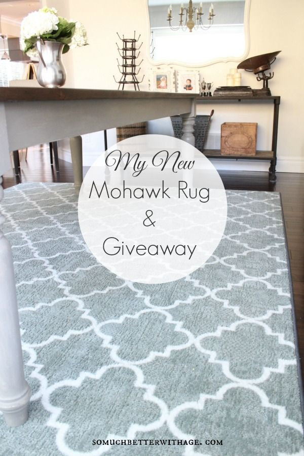 My New Dining Room Rug {Plus Mohawk Rug Giveaway!}