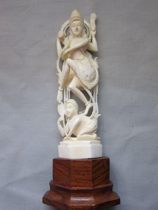 Antique ivory statuette, Shiva Nataraja - India- around 1920