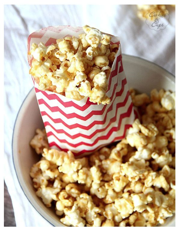 Easy Caramel Popcorn | DownEast Basics Blog
