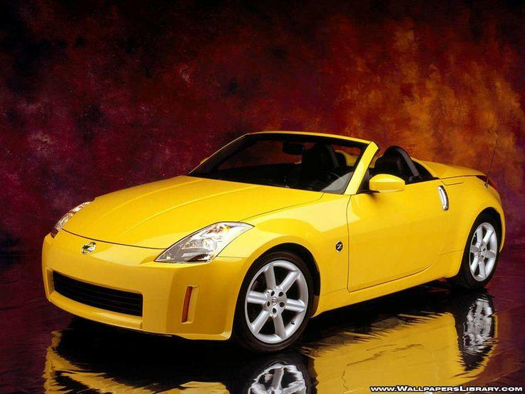 Nissan Z350 Convertible Yellow Wallpaper