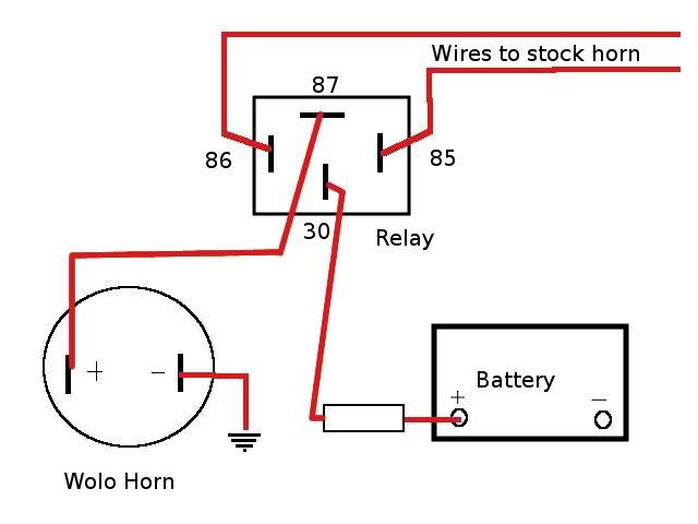 Car Horn Relay Wiring Diagram from i.pinimg.com