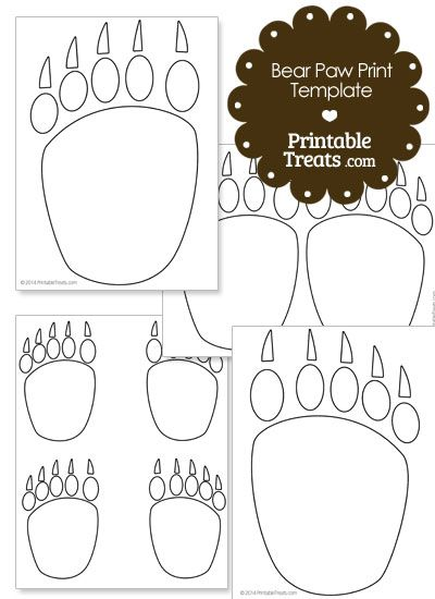 Printable Bear Paw Prints Template