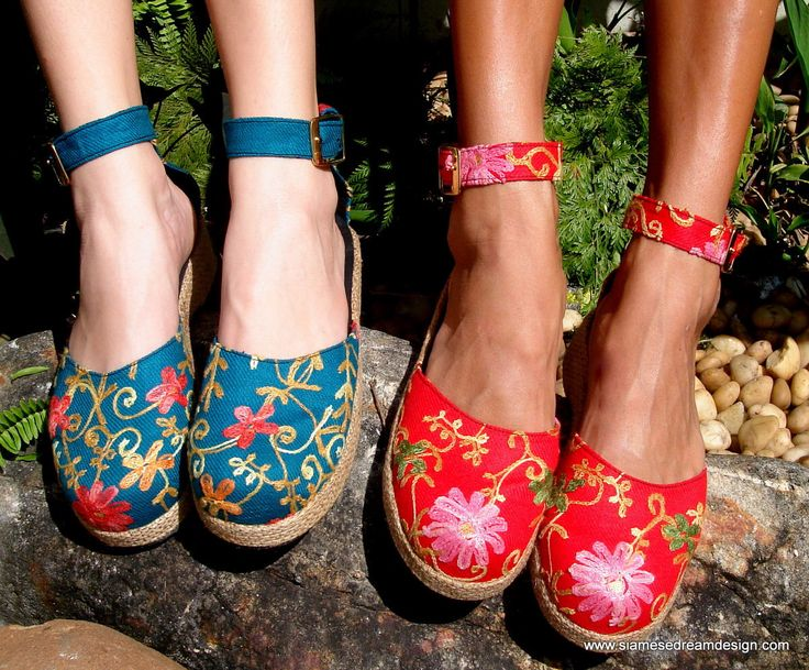 25% Off Clearance Sale- Embroidered Floral Wedge Womens Shoe In Teal Or Red by SiameseDreamDesign on Etsy https://www.etsy.com/listing/87297007/25-off-clearance-sale-embroidered-floral
