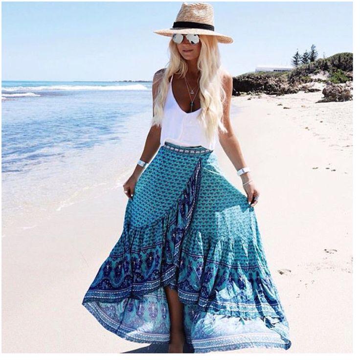Spell byron bay maxi skirt