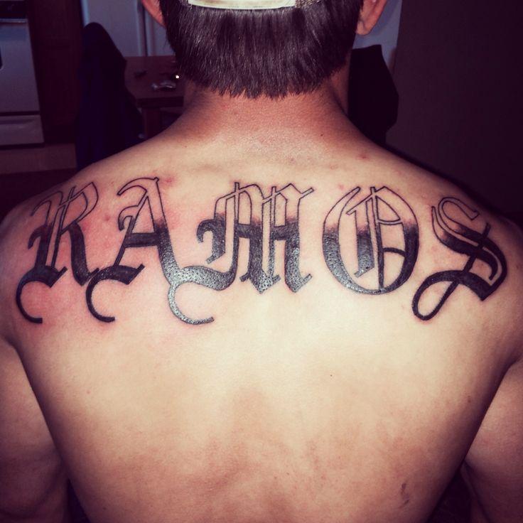 Last Name Tattoo, Old English Tattoo