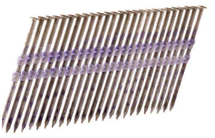 "Hitachi 10163 Round Heavy Duty Hot Dip Galvanized Nail, 4M, 3-1/4"""