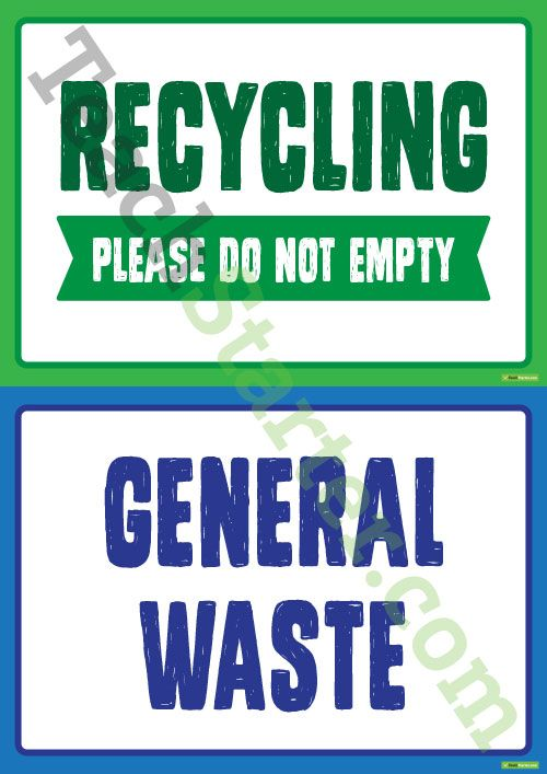 General Waste, Recycling and Soft Plastics Posters Teaching Resource