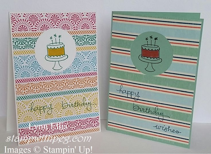 Stampin' Up! Demonstrator stampwithpeg – Quick Card Thurday : Endless Birthday Wishes. Well here it is again, quick card Thursday, it comes around too quickly at the moment as each one is another w…