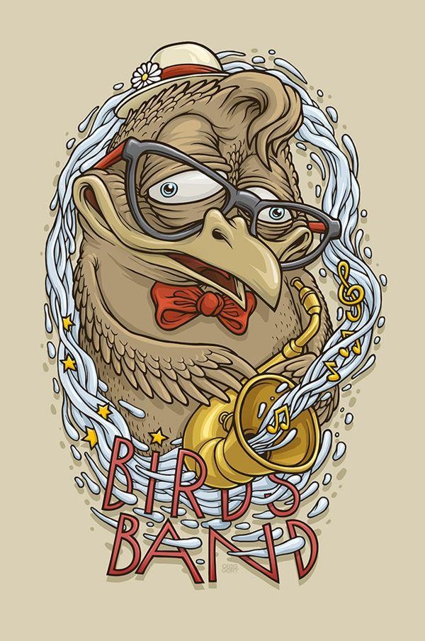 Birds Band by Oleg Gert, via Behance