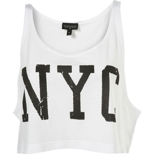 NYC Dance Crop Top ❤ liked on Polyvore