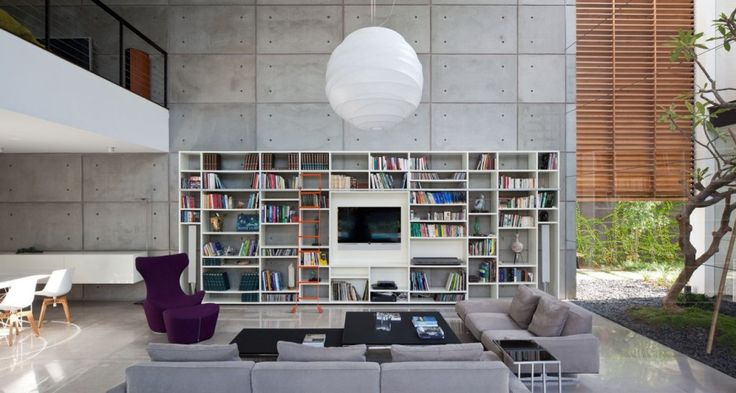 Haifa House by Pitsou Kedem Architects ~ an atrium living room would be cool