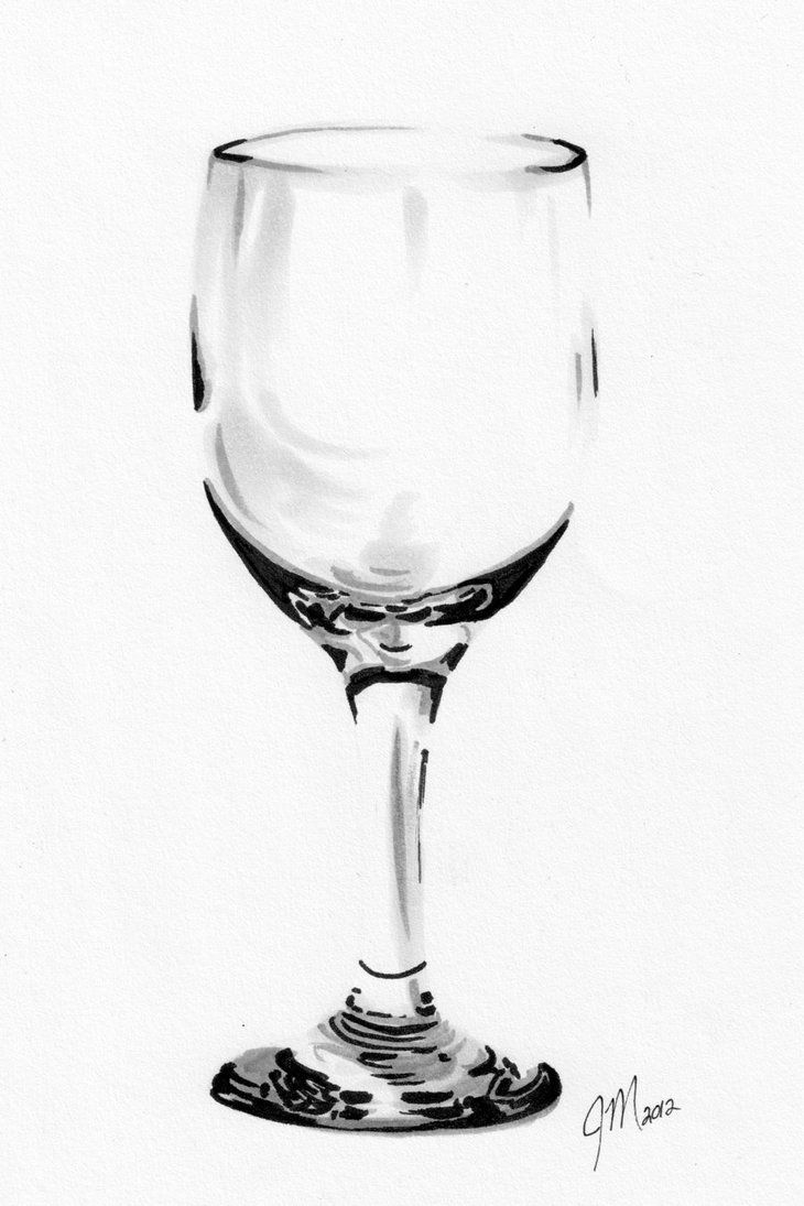 Wine Glass Practice Drawing by jessicassketchbook