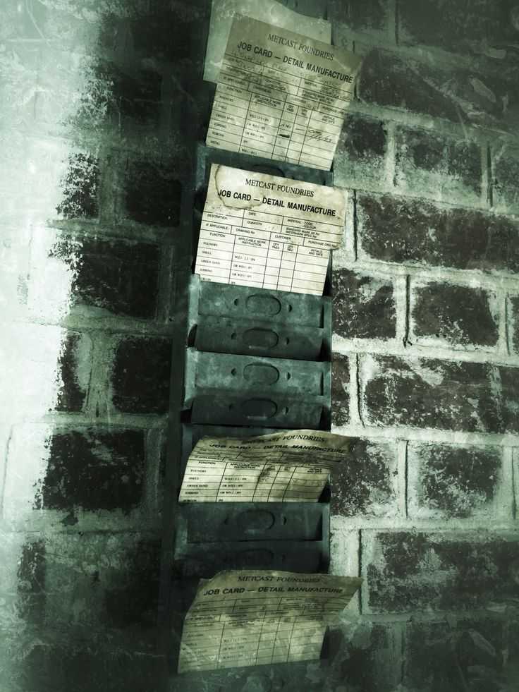 Time sheets at a foundry. From another time.