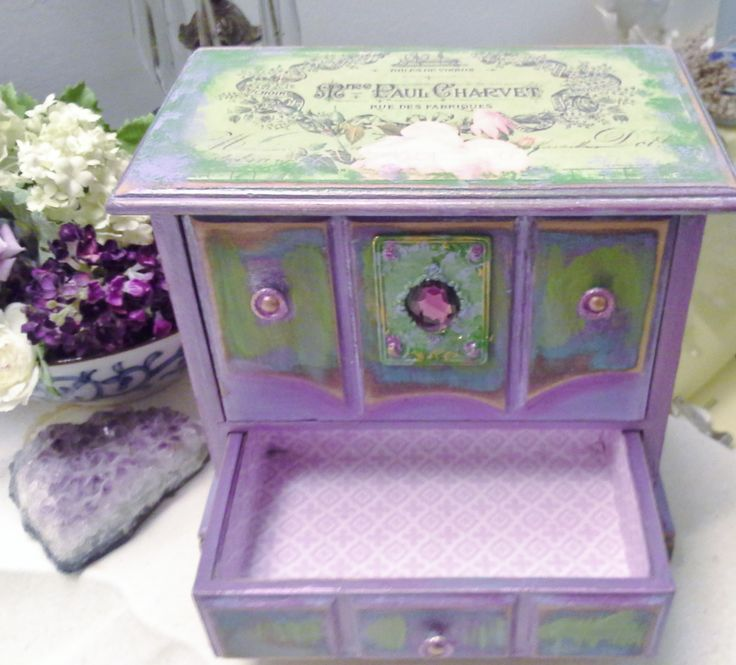 17 best images about refurbished stuffs on pinterest for Old jewelry box makeover