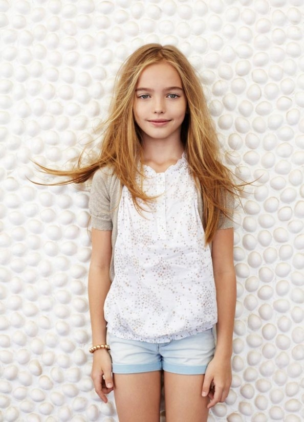 """""""In this image: Cardigan (10CQC6267); Shorts (4BAY59200). Summer 2013 United Colors of Benetton Kid and Tween collection."""""""