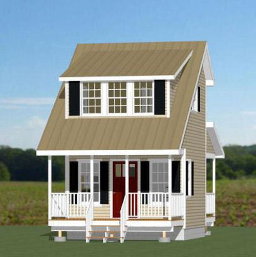14x14 tiny house 399 sq ft pdf floor plan model 1a for 14x14 cabin with loft