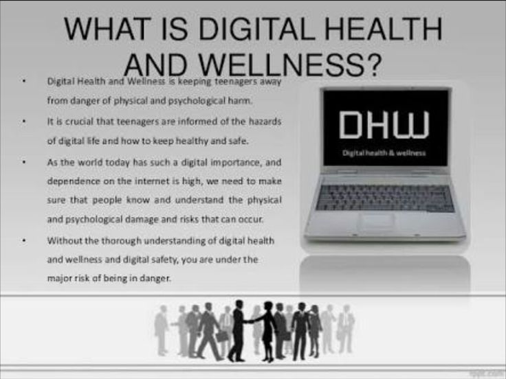 Looking at what the digital health and wellness