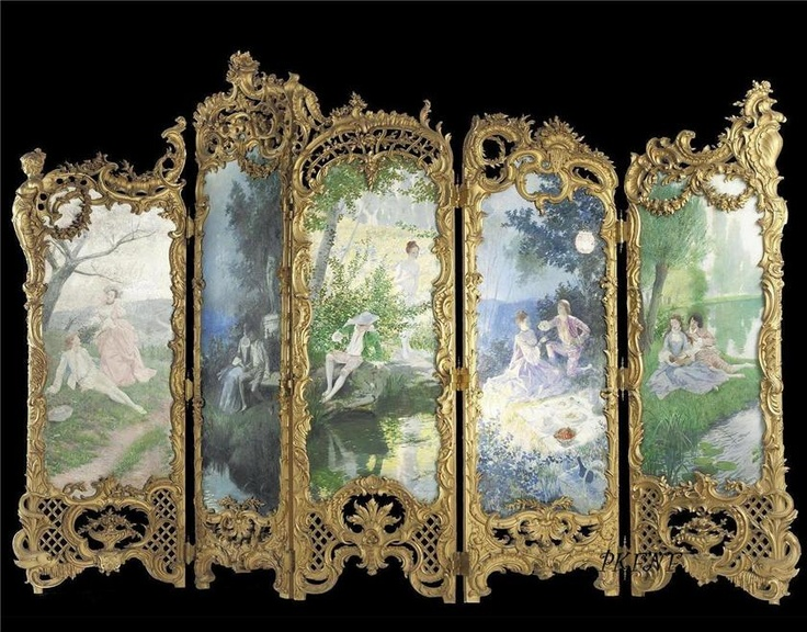 Ornate French panelled screen I'm desperate for this!!!!!!!!