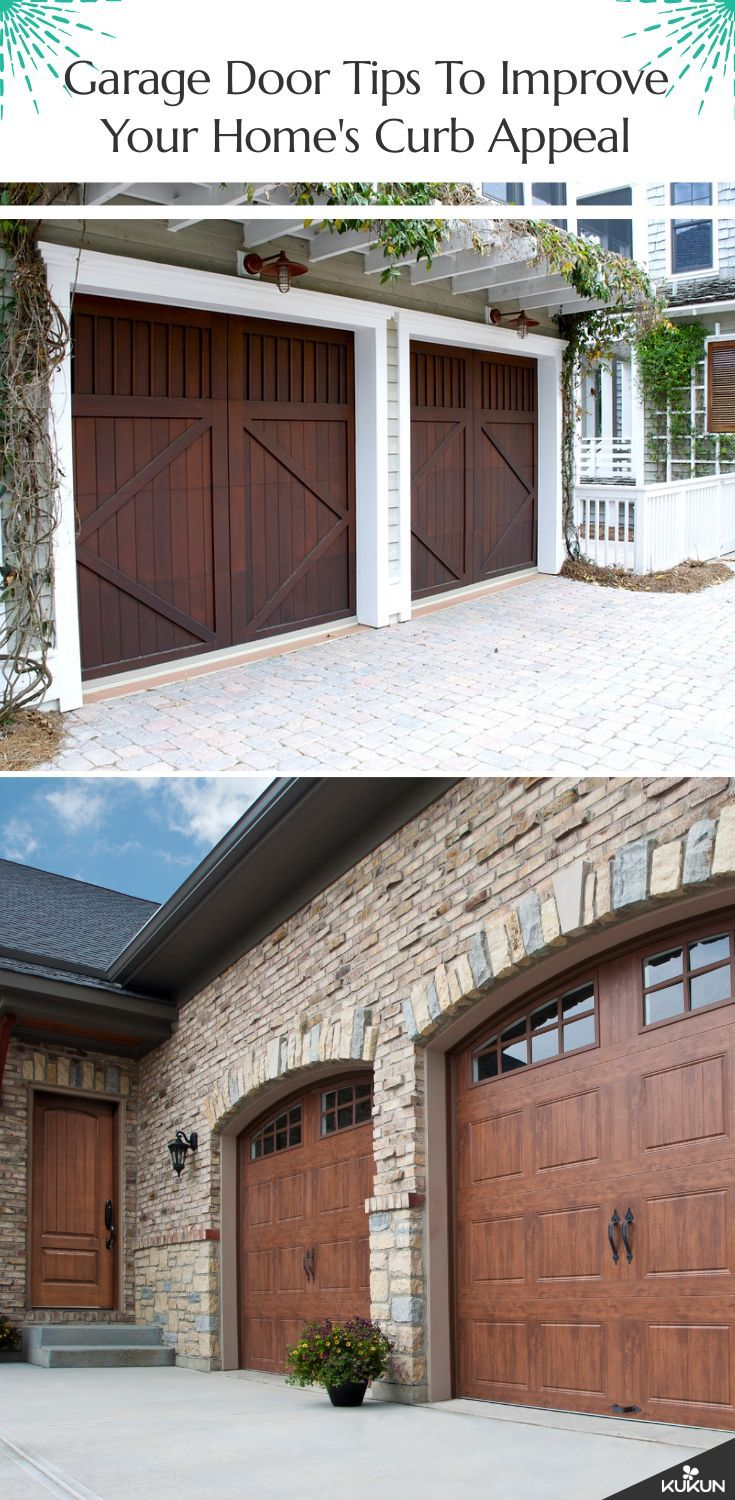 Garage Door Ideas To Improve Your Home Curb Appeal Garage Doors Garage Door Design Garage Door Styles