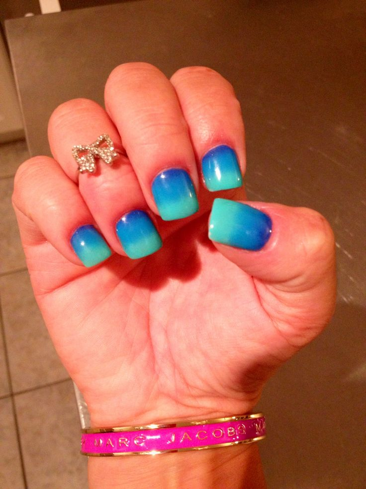 My ombré nails :) very beachy and summery, love them