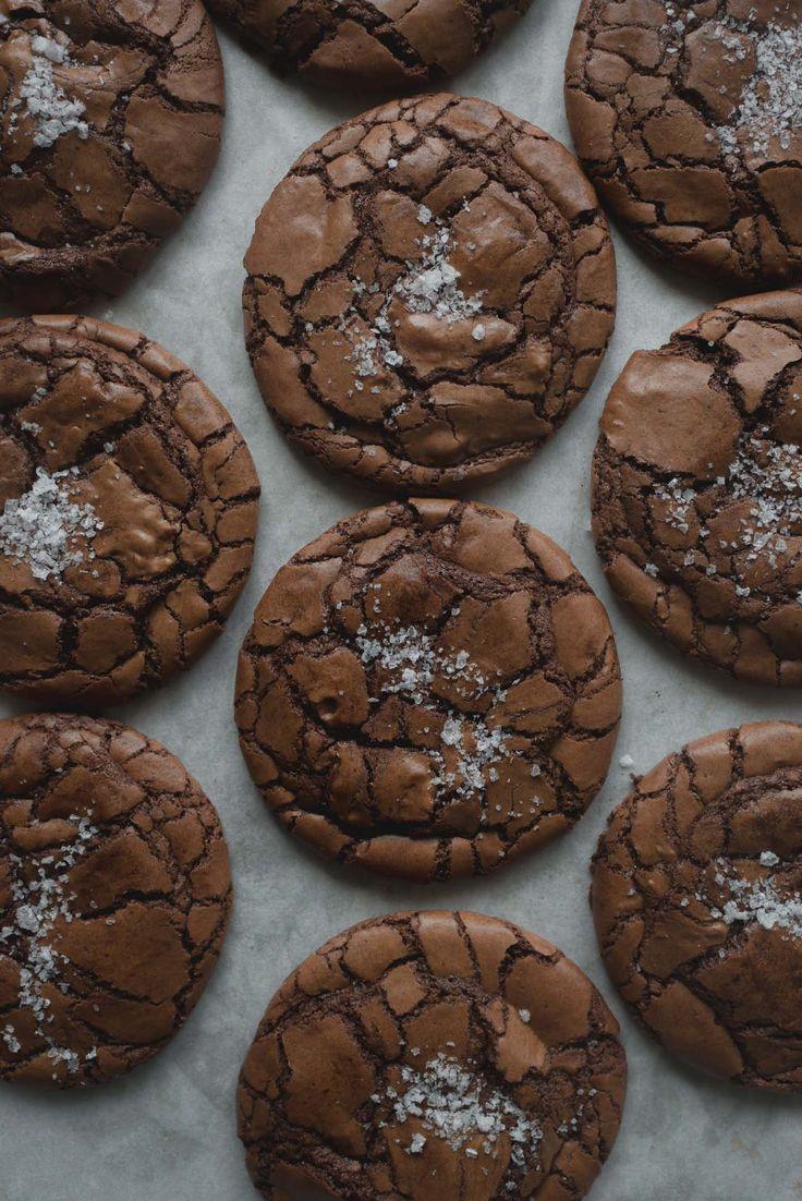 Salted Coffee Brownie Cookies /