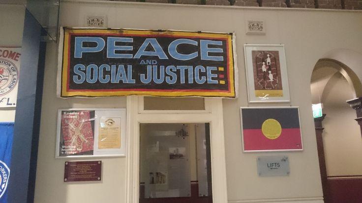 Part of Reconciliation Week display, Trades Hall Atrium 2016